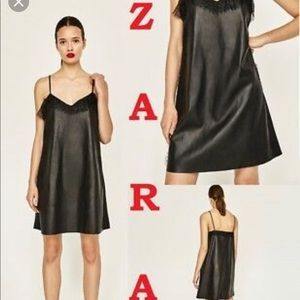 Zara faux leather dress sz large